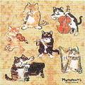 メガネ拭きクロス(6匹猫の演奏会)