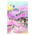 """""""Cosmic Garden #2"""" riso print by Diana Lynn VanderMeulen"""
