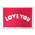 "Andy Rementer Screen-Print ""LOVE YOU"""