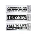 commune × B.Thom Stevenson Bumper Sticker [B&W_01]