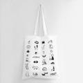 季節の記録 Tote Bag by 小幡彩貴 [White/Black]