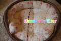 ダーラムキルト ベージュローズ(ラタンボウルベッド用)クッションセット
