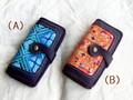 モン族刺繍布入り長財布・紫2