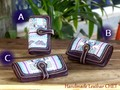 モン族の古布を使った長財布・紫