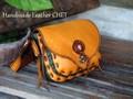 緑と黄色のコンビネーションもこもこバッグ