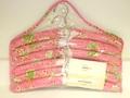 キルティングハンガー 6本セット (花柄・ピンク)