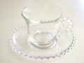 Candlewick Coffee Cup & Saucer (Vintage)