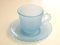 *Dalzell Viking* Candlewick Coffee Cup & Saucer (Blue Satin)