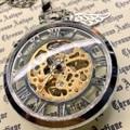 951.手巻き式懐中時計(シルバー・全スケルトン・銀翼)