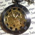 936.手巻き式懐中時計(アラベスク・クローム・銀の翼)