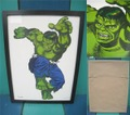 HULK/SILK SCREEN POSTER(額付)