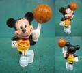ミッキーマウス/PVCフィギュア(バスケ)