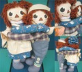 Raggedy Anne&Andy/Rug Set(Molly'es)