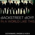 BACKSTREET BOYS / LIVE IN SWEDEN 3-14-2014