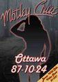 MOTLEY CRUE / LIVE IN OTTAWA,CANADA 10-24-1987