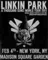 LINKIN PARK / LIVE IN NEW YORK 2-4-2011