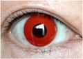 ふちなし赤コン【Crazy Lens Red Devil】コスプレ専用カラコン2枚セット