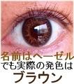 ワンデーカラコンTruBlends【ふちありヘーゼル(ブラウン)】10枚入