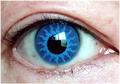 ふちなし青コン【Crazy Lens Solar Blue】コスプレ専用カラコン2枚セット