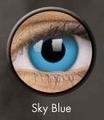 ベタ青コン【Crazy Lens Sky Blue】コスプレ専用カラコン2枚セット