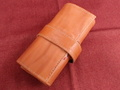 イタリア製ポータブル時計ケース 5本用(懐中時計対応)キャメル 5-7