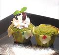 モモばあちゃんの手づくりカップケーキ《抹茶あずき》(1箱12個入)