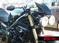 Freespirits Triumph Street Triple 08-12用 クリップオンセパレートハンドル50mm+マウントブラケットCode: 302203+302205