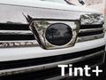Tint+ トヨタ ヴェルファイア AGH30W/AGH35W/AYH30W/GGH30W/GGH35W 前期 レーダーブレーキ搭載車 フロントエンブレム 用 ★ブラックスモーク