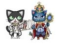 フレークシール「王様とらぼねこ」(謎猫城)