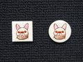 手描きモザイクタイル 犬7