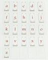 22×48mm縦長文字タイル アルファベット小文字