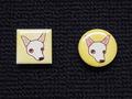 手描きモザイクタイル 犬1