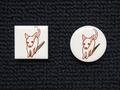 手描きモザイクタイル 犬4