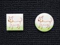 手描きモザイクタイル 犬5