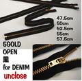 【付属】5サイズオープン・加工対応金属ファスナー黒
