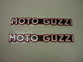 MOTO GUZZI・タンクエンブレム赤/銀(V7レーサーMY14)2枚SET