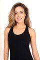 kauai Comfy Shirt, Black タンクトップ( Natural Viscose) - S