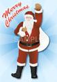No284 クリスマス サンタクロース(Merry Christmasロゴ入り)