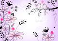 No.293 花と鳥 パープル