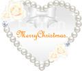 No.31 クリスマス リース ハート パール バラ