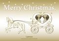 No403 クリスマス 馬車 【AI】