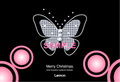 No428 クリスマス キラキラ 蝶 ダイヤモンド ピンク 【AI】