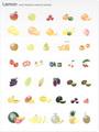 No603 果物 フルーツ ナチュラルカラー 【AI】