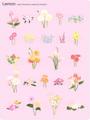 No.651 お洒落な花のイラスト ナチュラルカラー 【AI】