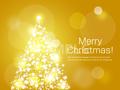 No1137 クリスマスツリー ゴールド 【AI】