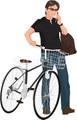 No.1018 自転車と男性のイラスト