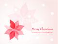 No1081 クリスマスのイラスト ポインセチア 【AI】