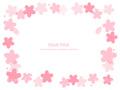 No1101 桜の飾り枠 ピンク 【AI】