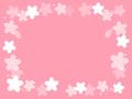 No1104 桜の飾り枠 白