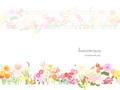 No.766 お洒落な花のイラスト